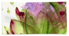 Artichoke Flower Beach Sheet