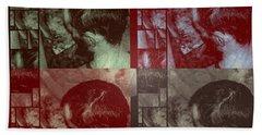 Beach Sheet featuring the photograph Artiste Stevo York Headpainting Part One by Sir Josef - Social Critic - ART