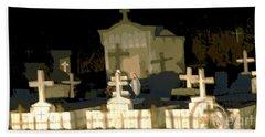 Beach Sheet featuring the photograph Louisiana Midnight Cemetery Lacombe by Luana K Perez