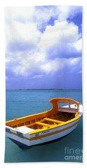 Aruba. Fishing Boat Beach Towel