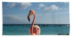 Aruba Hairy Eyeball Beach Towel by HEVi FineArt