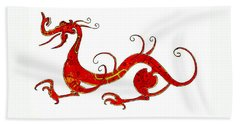 Asian Dragon Beach Towel