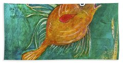 Asian Fish Beach Towel