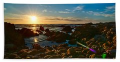 Asilomar Sunset - Monterey Bay Beach Towel