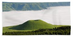 Beach Towel featuring the photograph Aso Komezuka Sea Of Clouds Cloud Kumamoto Japan by Paul Fearn