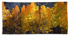 Beach Sheet featuring the photograph Aspen Gold by Lynn Bauer
