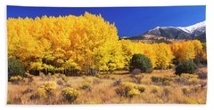 Aspen Tree With Sangre De Cristo Beach Towel