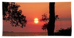 Beach Towel featuring the photograph Association Island Sunset by Aimee L Maher Photography and Art Visit ALMGallerydotcom