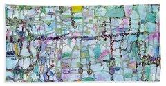 Associations Beach Towel by Regina Valluzzi