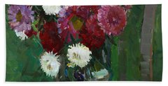 Asters In The First Frosts Beach Towel