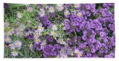 Asters Light And Dark Beach Towel