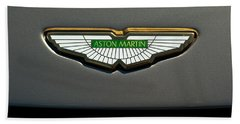 Aston Martin Emblem Beach Towel