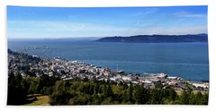 Aaron Berg Photography Beach Towel featuring the photograph Astoria Oregon by Aaron Berg