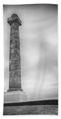 Beach Sheet featuring the photograph Astoria The Column by David Millenheft