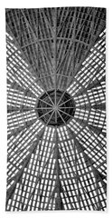 Astrodome Ceiling Beach Towel by Benjamin Yeager
