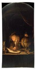 Astronomer By Candlelight Beach Sheet