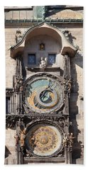 Astronomical Clock At The Old Town Beach Towel