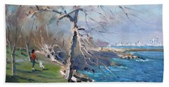 At The Park By Lake Ontario Beach Towel