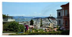 At The Top - Lombard Street Beach Towel