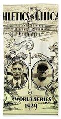 Athletics Vs Chicago 1929 World Series Beach Towel