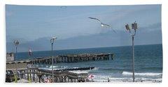 Atlantic City 2009 Beach Towel by HEVi FineArt