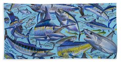 Atlantic Gamefish Off008 Beach Towel by Carey Chen