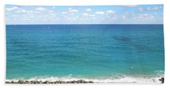 Atlantic Ocean In South Florida Beach Towel by Ron Davidson