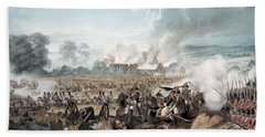 Attack On The British Squares By French Beach Towel