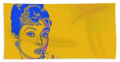 Beach Towel featuring the photograph Audrey Hepburn 20130330v2 by Wingsdomain Art and Photography