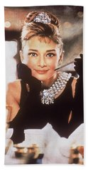 Audrey Hepburn Beach Sheet by Georgia Fowler