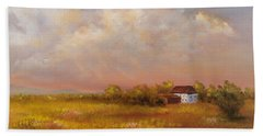 Beach Towel featuring the painting August Afternoon Pa by Katalin Luczay