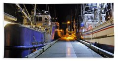 Beach Towel featuring the photograph Auke Bay By Night by Cathy Mahnke
