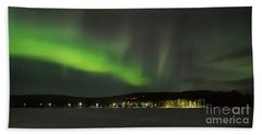 Aurora Borealis Beach Towel by IPics Photography