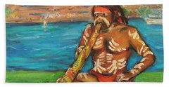 Beach Towel featuring the painting Aussie Dream I by Xueling Zou