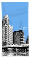 Austin Skyline - Sky Blue Beach Towel