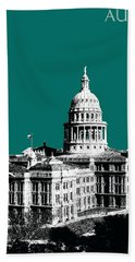 Austin Texas Capital - Sea Green Beach Towel