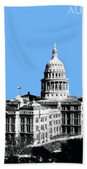 Austin Texas Capital - Sky Blue Beach Towel