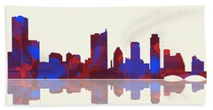 Austin Texas Skyline Beach Towel