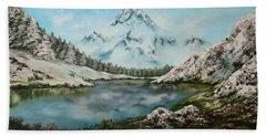 Austrian Lake Beach Towel by Jean Walker