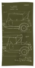 Automobile Body Patent 1924 Beach Towel