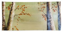 Autum On The Ema River  2 Beach Towel