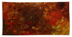 Autumn Abstract Beach Towel