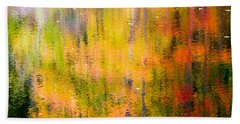 Autumn Abstract Beach Sheet by Eleanor Abramson