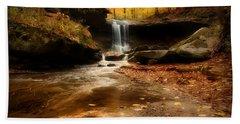 Autumn At Blue Hen Falls Beach Towel by Rob Blair