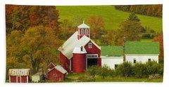 Autumn At Bogie Mountain Dairy Farm Beach Towel by John Vose