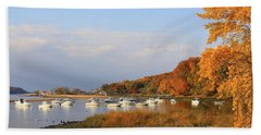 Autumn At Cold Spring Harbor Beach Sheet by Dora Sofia Caputo Photographic Art and Design