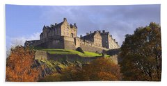 Autumn At Edinburgh Castle Beach Towel
