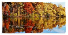 Autumn At Horn Pond Beach Towel