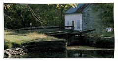 Autumn At The Lockhouse Beach Towel