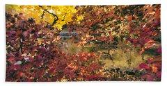 Autumn At The Park Beach Sheet